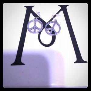 Lucky brand peace earrings